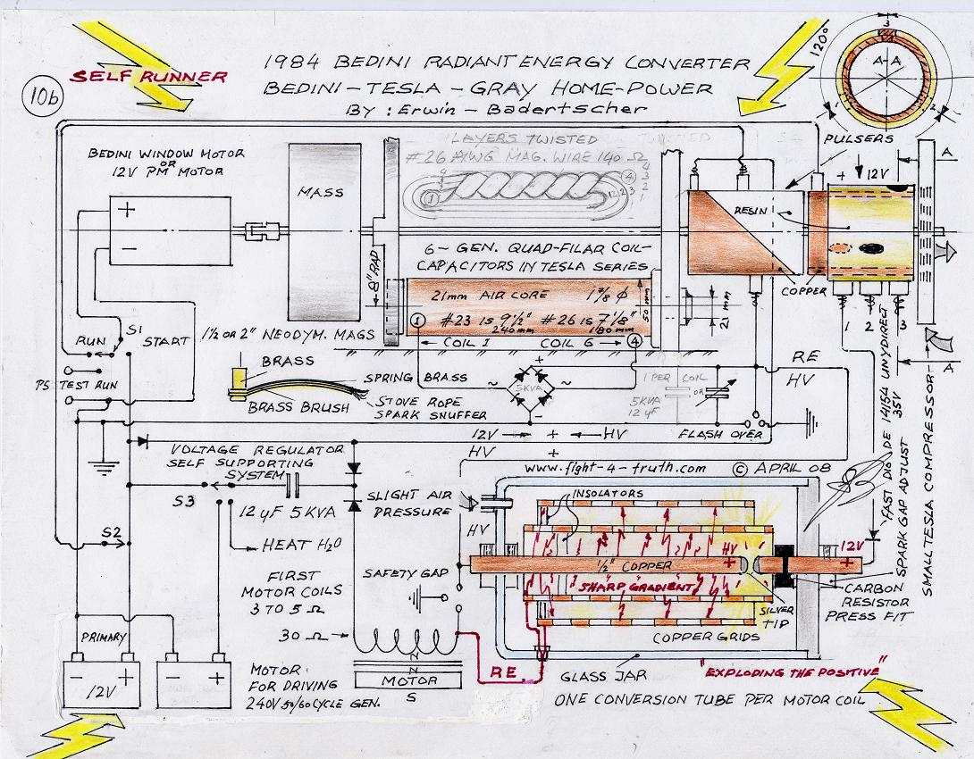 5 Wire Bedini Wiring Diagram Library Free Energy Generator On Self Powered Schematic